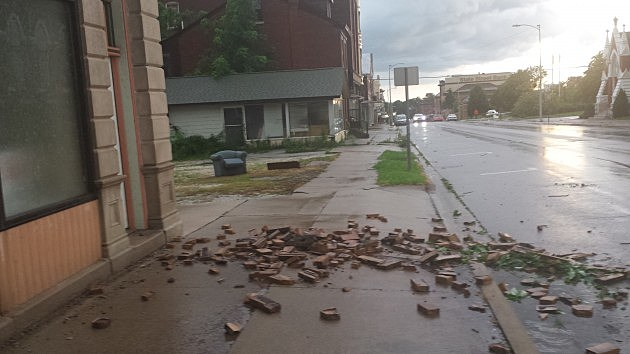 Storm damage in Quincy, Illinois